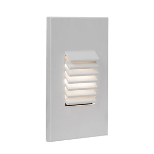 LED Vertical Louvered Step and Wall Light 120V Amber in White