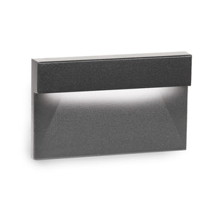 LED Horizontal Ledge Step and Wall Light 277V 3000K in Black