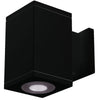 4.5in Cube Architectural Wall Sconce Double Light 2370lm 3500K Flood Beam Towards Wall