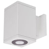 4.5in Cube Architectural Wall Sconce Double Light 1950lm 2700K Flood Beam Away From Wall
