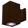 4.5in Cube Architectural Wall Sconce Double Light 1815lm 2700K 90CRI Flood Beam Away From Wall