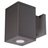 4.5in Cube Architectural Wall Sconce Double Light 1840lm 3000K 90CRI Flood Beam Away From Wall