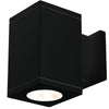 5.5in Cube Architectural Wall Sconce Double Light 2575lm 3000K Flood Beam One Side Each