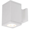 5.5in Cube Architectural Wall Sconce Double Light 2370lm 3000K 90CRI Flood Beam Away From Wall