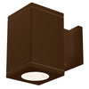 5.5in Cube Architectural Wall Sconce Double Light 2225lm 2700K 90CRI Flood Beam Away From Wall