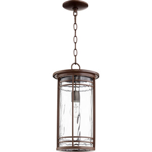 Larson 1 Light Outdoor in Oiled Bronze w/ Clear Hammered Glass Finish 7917-9-186