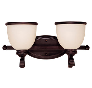 Willoughby 2 Light Bathroom Vanity  in English Bronze Finish by Savoy House 8-5779-2-13