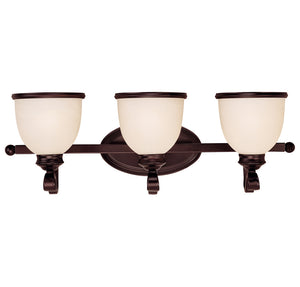 Willoughby 3 Light Bathroom Vanity  in English Bronze Finish by Savoy House 8-5779-3-13