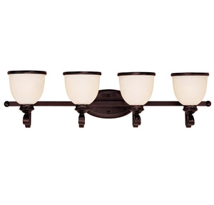Willoughby 4 Light Bathroom Vanity  in English Bronze Finish by Savoy House 8-5779-4-13