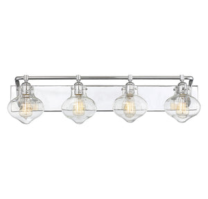 Allman 3 Light Bathroom Vanity  in Polished Chrome Finish by Savoy House 8-9400-4-11