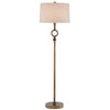 Germaine Floor Lamp in Antique Brass by Currey and Company 8000-0077