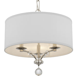 Crystorama 8005-PN Mirage 3 Light Nickel Mini Chandelier