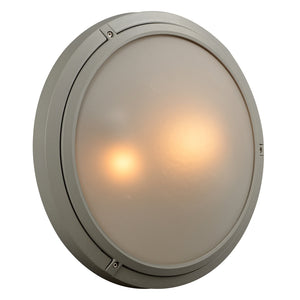 PLC Lighting 8039 SL Ricci-II Collection 2 Light Exterior in Silver Finish
