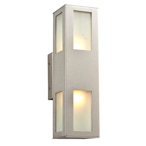 PLC Lighting 8041 SL Tessa Collection 2 Light Exterior in Silver Finish