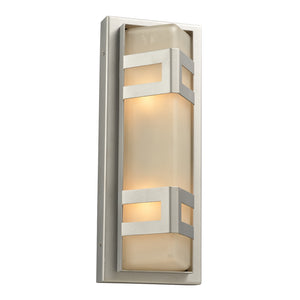 PLC Lighting 8043 SL Sasha Collection 2 Light Exterior in Silver Finish