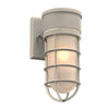 PLC Lighting 8050SL Cage Collection 1 Light Exterior in Silver Finish