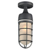 PLC Lighting 8052BZ Cage Collection 1 Light Exterior in Bronze Finish