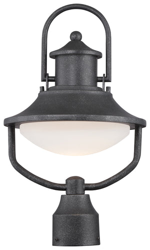 Crest Ridge 1 Light Outdoor Post Mount In Forged Silver Finish by Minka Lavery 8136-173-L