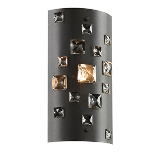 PLC Lighting 81390BK Twilight Collection 1 Light Sconce in Black Finish