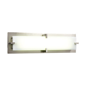 PLC Lighting 814 SN Polipo Collection 2 Light Vanity in Satin Nickel Finish