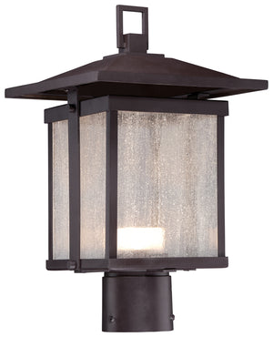 Hillsdale 1 Light Outdoor Post Mount In Dorian Bronze Finish by Minka Lavery 8166-615B-L