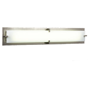PLC Lighting 816 SN Polipo Collection 2 Light Vanity in Satin Nickel Finish