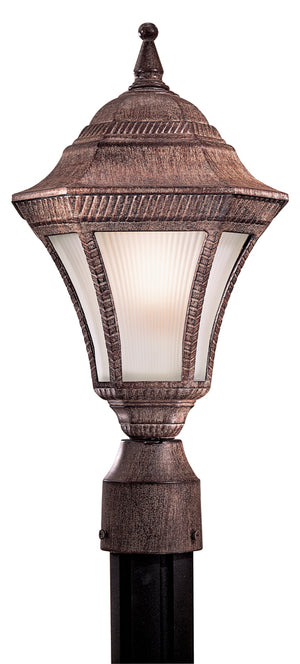Segovia 1 Light Outdoor Post Mount In Vintage Rust Finish by Minka Lavery 8206-61-PL