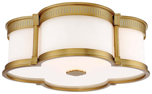 3 Light Flush Mount In Liberty Gold Finish by Minka Lavery 824-249