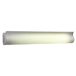 PLC Lighting 824 AL Fluoron Collection 2 Light Vanity in Aluminum Finish