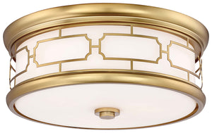 3 Light Flush Mount In Liberty Gold Finish by Minka Lavery 826-249