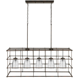 Capital Lighting Turner 829751NG-462 5 Light Island in Nordic Grey