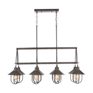 Capital Lighting Pawley 830881MI 8 Light Island in Mineral Brown