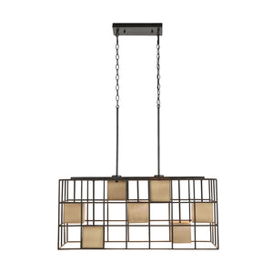 Capital Lighting Paxton 830971AB 7 Light Island in Aged Brass and Black