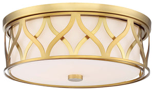 3 Light Flush Mount In Liberty Gold Finish by Minka Lavery 840-249