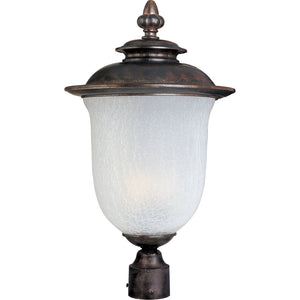 Maxim Lighting 85191FCCH Cambria EE 1-Light Outdoor Pole/Post Lantern in Chocolate Finish