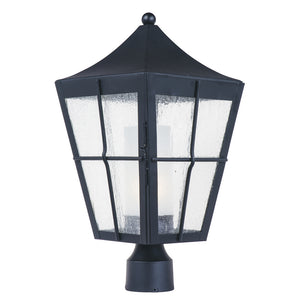 Maxim Lighting 85330CDFTBK Revere 1-Light Outdoor Post in Black Finish