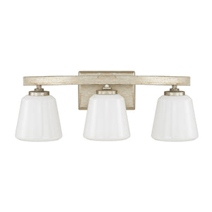 Capital Lighting Berkeley 8533WG-300 3 Light Bathroom Vanity in Winter Gold