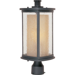 Maxim Lighting 85650CDWSBZ Bungalow EE 1-Light Outdoor Pole/Post Lantern in Bronze Finish