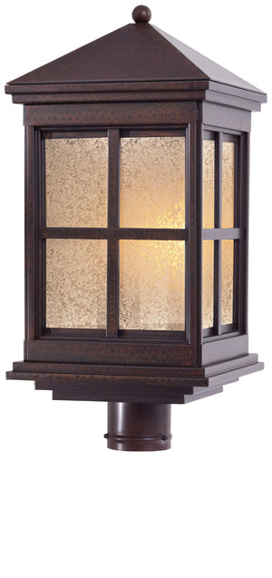 Berkeley   1 Light Outdoor Post Mount In Rust  Finish by Minka Lavery 8566-51-PL