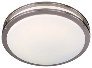 1 Light Flush Mount In Brushed Nickel Finish by Minka Lavery 860-84-PL