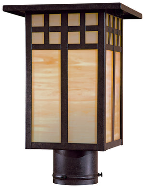 Scottsdale 1 Light Outdoor Post Mount In Textured French Bronze Finish by Minka Lavery 8605-A179-PL