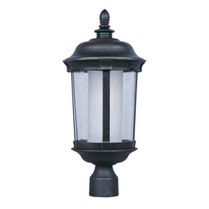 Maxim Lighting 86592CDFTBZ Dover EE 1-Light Outdoor Pole/Post Lantern in Bronze Finish
