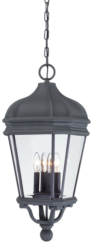 Harrison 4 Light Outdoor Pendant In Black Finish by Minka Lavery 8694-66