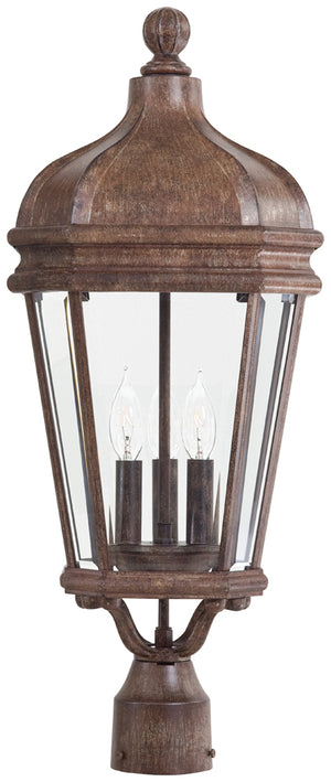 Harrison 3 Light Outdoor Pendant In Vintage Rust Finish by Minka Lavery 8696-61
