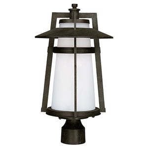 Maxim Lighting 88530SWAE Calistoga LED 1-Light Outdoor Pole/Post Lantern in Adobe Finish