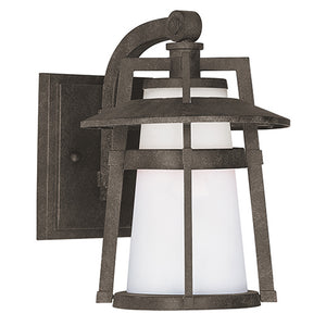 Maxim Lighting 88532SWAE Calistoga LED 1-Light Outdoor Wall Lantern in Adobe Finish