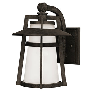Maxim Lighting 88536SWAE Calistoga LED 1-Light Outdoor Wall Lantern in Adobe Finish