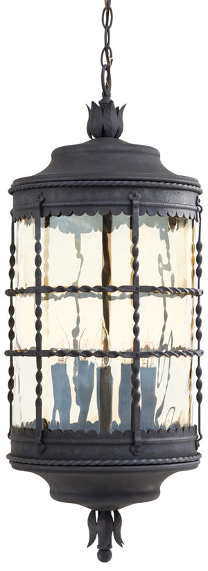 Mallorca 5 Light Outdoor Pendant In Spanish Iron Finish by Minka Lavery 8884-A39