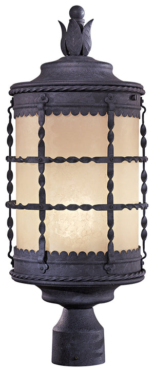 Mallorca 1 Light Outdoor Post Mount In Spanish Iron Finish by Minka Lavery 8885-A39-PL