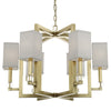 Crystorama 8886-AG Dixon 6 Light Antique Gold Chandelier